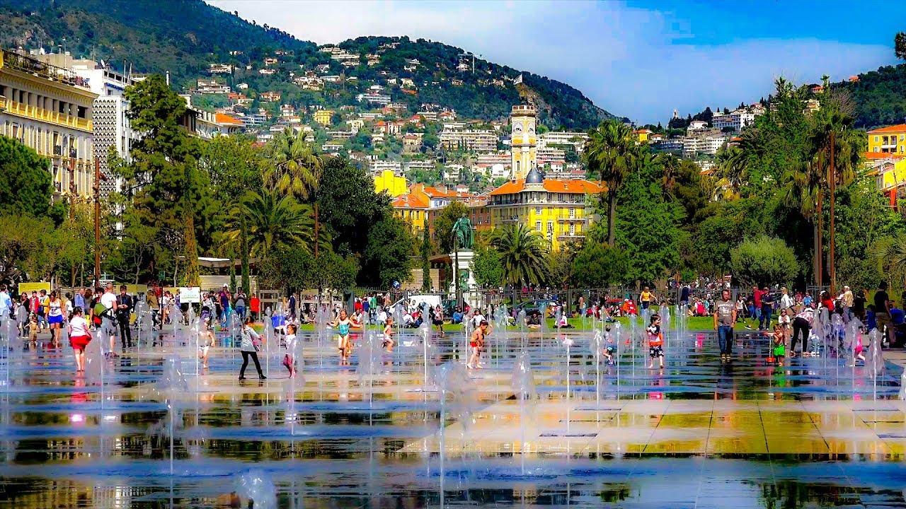 Watching Families Play In Le Fontaine Miroir D Eau Promenade Du Paillon Nice France Youtube