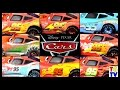 Cars Lightning McQueen All Paint Jobs 8 Screen Race | Cars Fast as Lightning