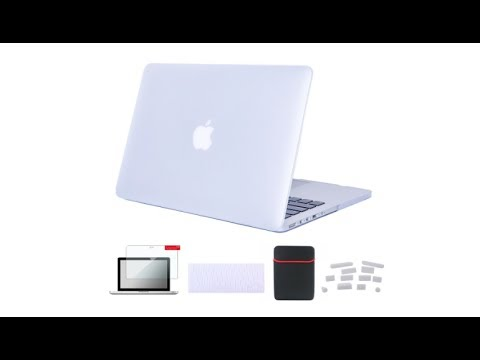 Se7enline MacBook Pro 15 Case Smooth Soft-Touch Matte Plastic Hard Cover  for MacBook Pro 15 inch A1398 with Retina display with Sleeve Bag, Keyboard