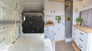 VAN CONVERSION Timelapse  Luxury DIY Campervan with SHOWER | Vanlife