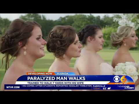 spinal cord injury groom walks down the aisle