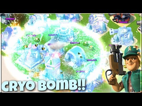 The CRYO Bomb is BACK!! Boom Beach NEW Gunboat Ability!