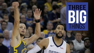 3 BIG THINGS: Golden State Warriors defeat the Memphis Grizzlies