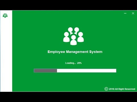 Employee Management System Desktop Application based on Java