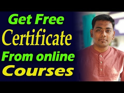how to get free certificates from free online courses detailed