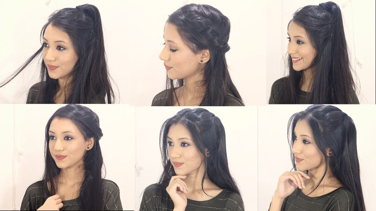 4 cute hairstyles for open hair   beautiful open hair hairstyles