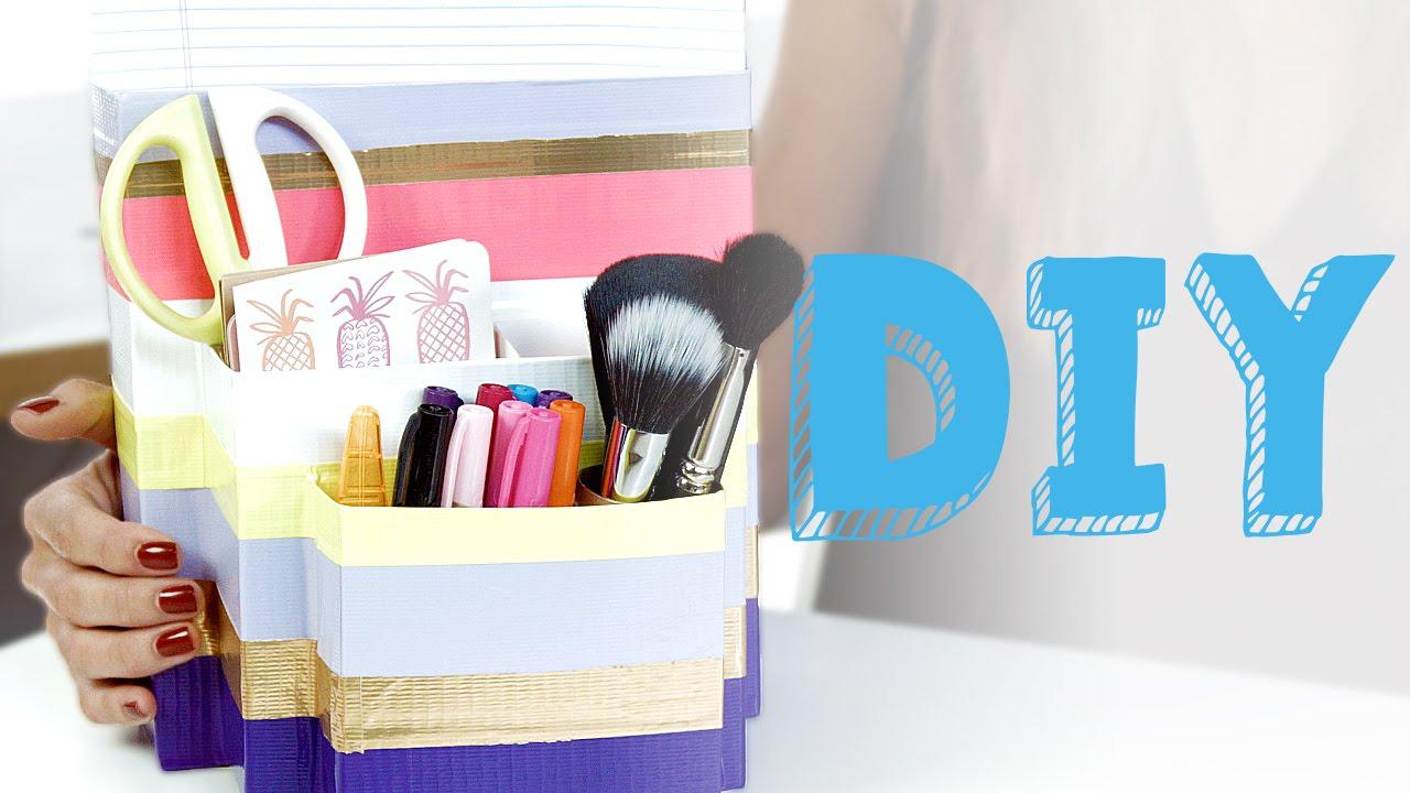 Diy Desk Organizer Youtube