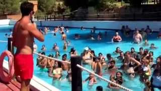 Water grace in Aqualand Water park Mallorca, Luis valle versus Paco herreros