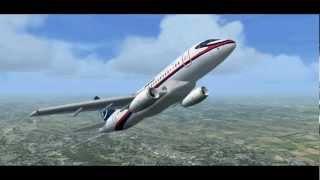 Repeat youtube video Sukhoi Superjet 100 crash simulation Mount Salak Indonesia, FSX Simulator