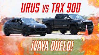 URUS TUNEADA vs PICKUP DE 900 CABALLOS (MAMMOTH TRX 900) 😱 | JUCA