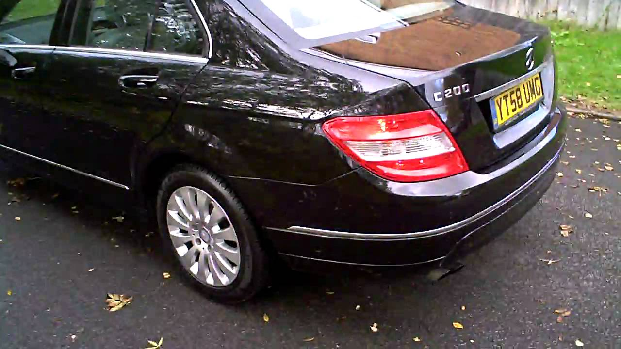 2009 mercedes c200 cdi elegance saloon auto diesel black youtube. Black Bedroom Furniture Sets. Home Design Ideas