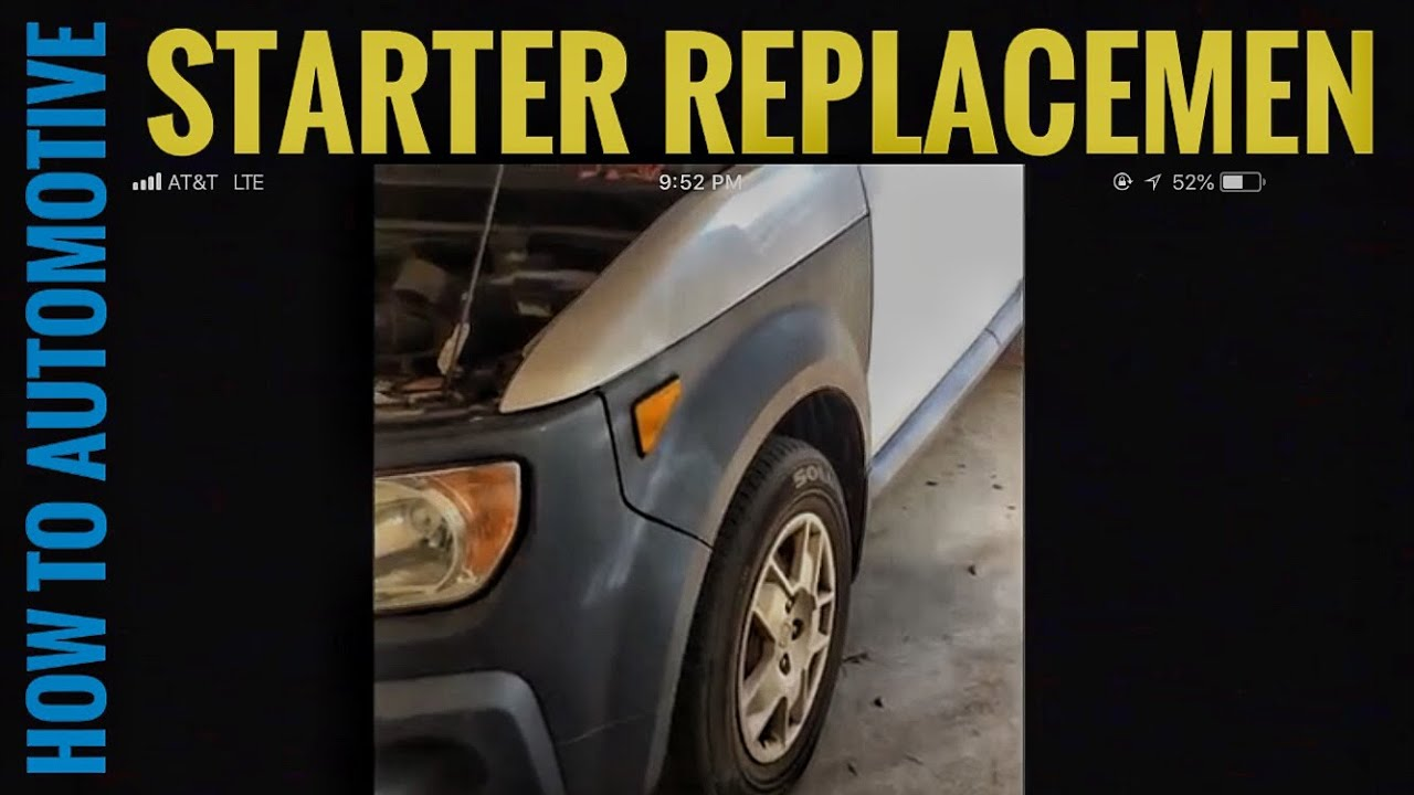 How to replace the starter motor on a 2006 honda element youtube how to replace the starter motor on a 2006 honda element sciox Choice Image