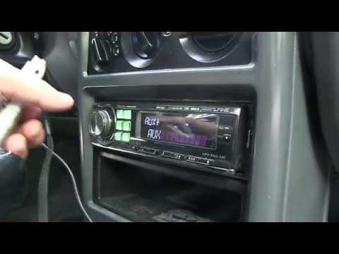 Подключение кабеля Ipod к