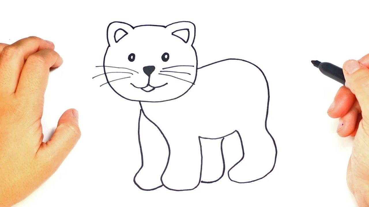Como dibujar un Gato Fácil Paso a Paso - YouTube