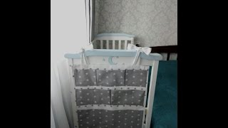 Органайзер на детскую кроватку , карман на кроватку от мастерской детского текстиля