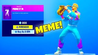 *NEW* EPIC SAX GUY DANCE Emote is Out..! Phone It In (New Item shop) Fortnite Battle Royale