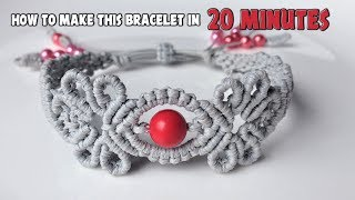 How to macrame: The Navita bracelet - Macrame jewelry set