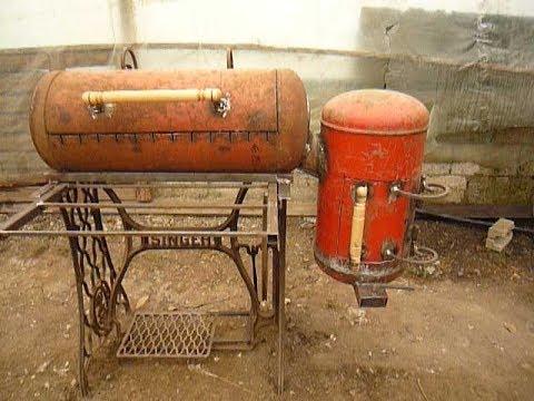 Мангал-барбекю  из газового баллона