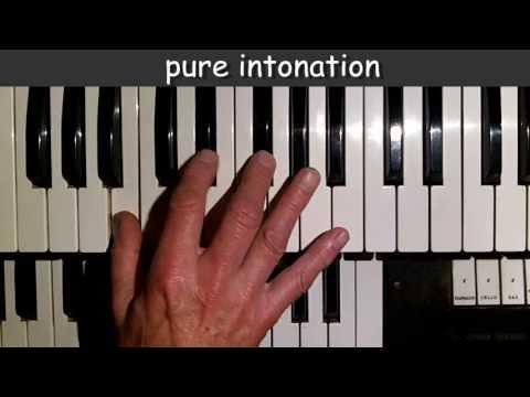 pure intonation vs. equal temperament