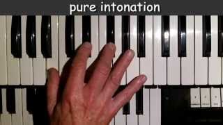 pure intonation vs. equal temperament