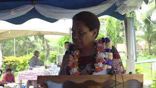Fijian Minister for Women breaks ground at the new Labasa Golden Age Home.