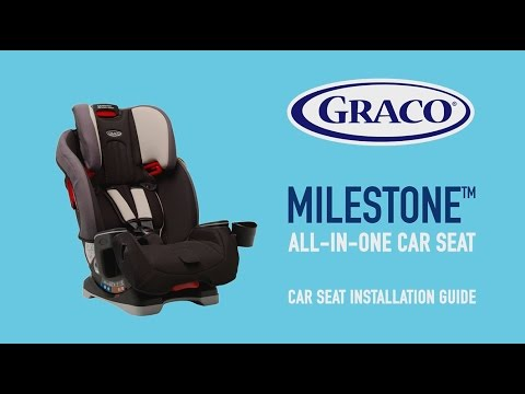 3458ce8f091a Graco® Milestone™ All-In-One Car Seat - Car Installation Guide - YouTube