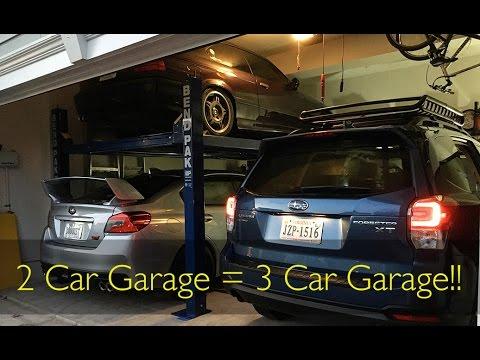 i put a lift in my 2 car garage youtube. Black Bedroom Furniture Sets. Home Design Ideas