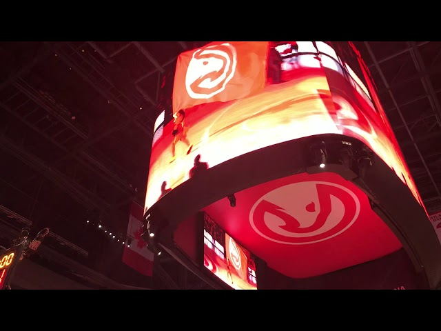 Atlanta Hawks Starting Lineup Introductions (11-23-19)