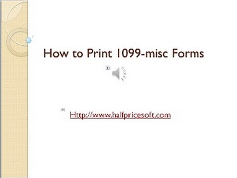 How To Print 1099 Misc Forms Youtube