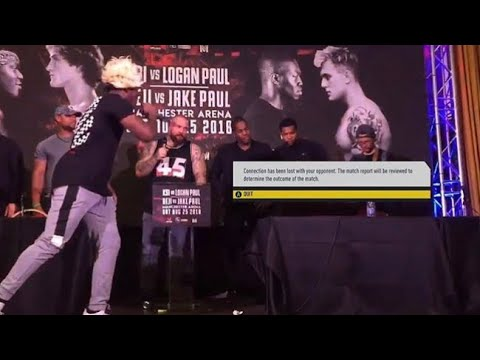 Logan paul  left the stage and got scared !!!! Uk press conference
