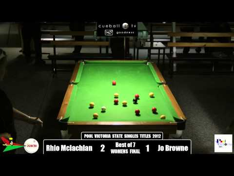 Pool Victoria state singles title 2012 Womens Final