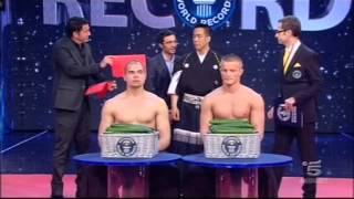 Samurai Hayashi's World Record in Speed Cutting on Guinness World Records TV Show