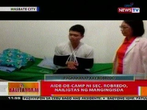 BT: Aide-de-Camp ni Sec. Robredo, nailigtas ng mangingisda sa Masbate