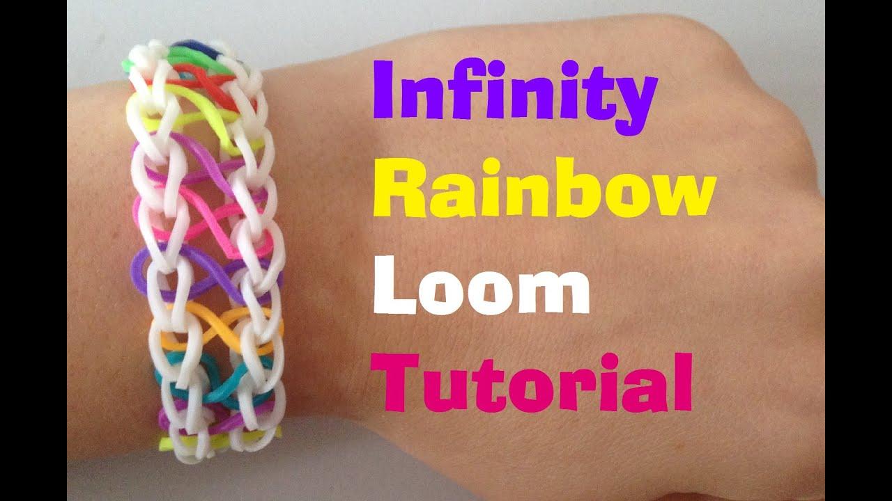 Infinity Rainbow Loom Bracelet Tutorial L Jasminestarler Youtube