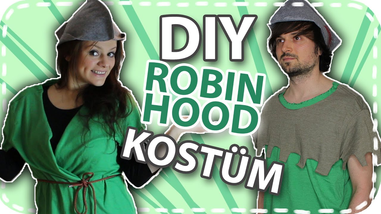 DIY Karnevals/Faschings Kostüm - Robin Hood #DoItEsther - YouTube