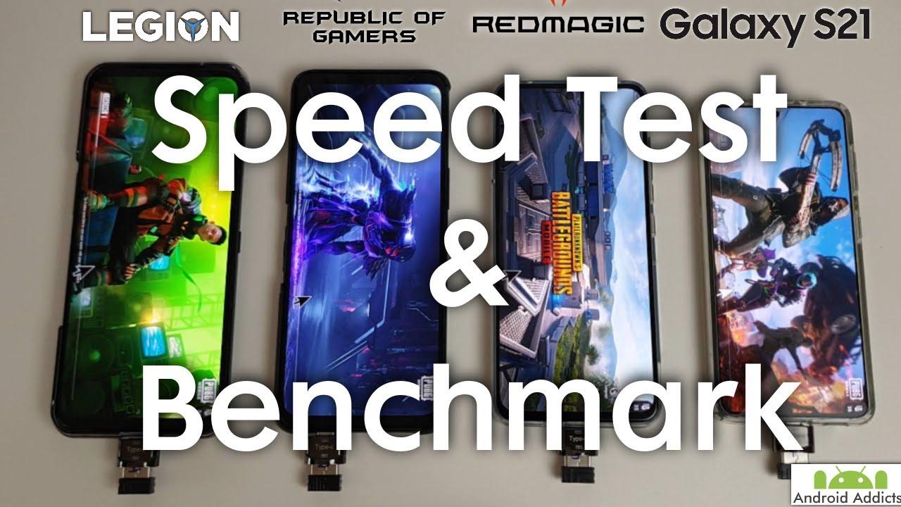Legion 2 vs Rog 5 vs RedMagic 6R vs Galaxy S21 - Speed Test & Benchmark