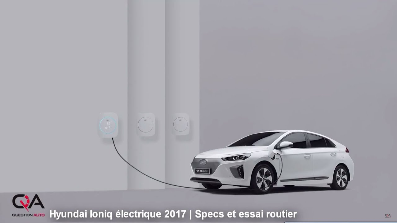 2017 hyundai ioniq lectrique specs et essai routier essai complet 3 7 youtube. Black Bedroom Furniture Sets. Home Design Ideas
