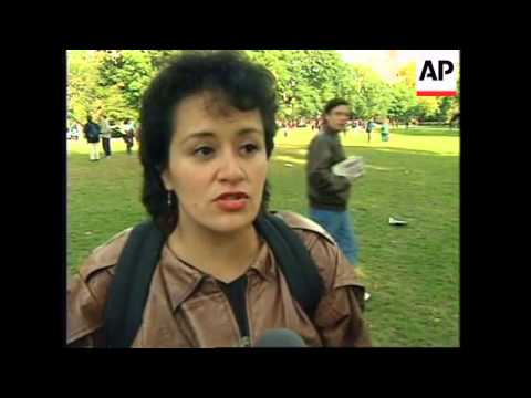 USA: Washington: 1st National March For Latino and Immigrant Rights - 1996
