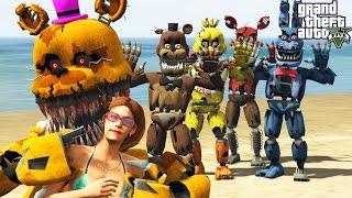 GTA 5 Mods 'NIGHTMARE ANIMATRONICS MOD' (GTA 5 Five Nights At Freddy's Mod, FNAF, Funny Moments)