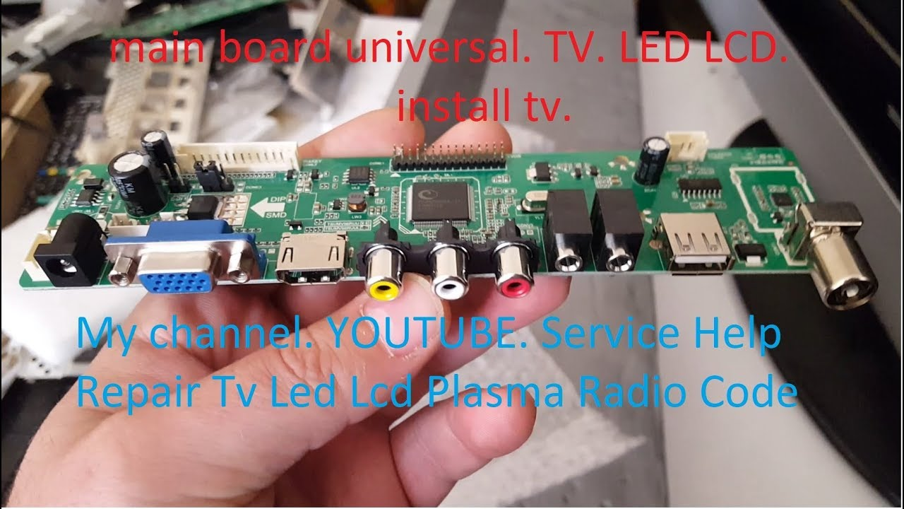 Main Board Universal Tv Led Lcd Install T8 Replacement Wiring Diagram Free Download 42 Inch