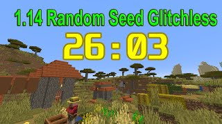 Minecraft 1.14 Speedrun World Record in 26:03 | Random Seed Glitchless Any%