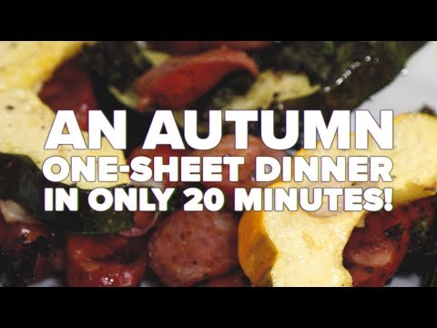 An Autumnal One-Sheet Dinner in Only 20 minutes!