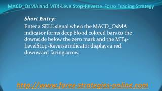 MACD OsMA and MT4 LevelStop Reverse  Forex Trading Strategy