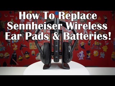 How To Replace Sennheiser Wireless Headphone Ear Pads and Add Longer Life Batteries in 4K!