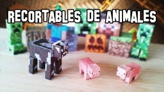✔ Cómo Hacer los Animales de Minecraft PaperCraft