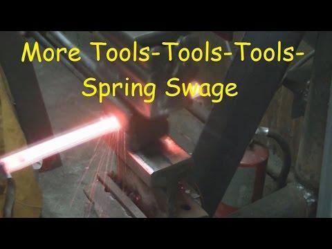 Blacksmithing A Spring Swage