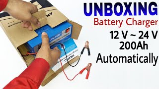 Battery Charger, 12 Volt ~ 24 Volt, 🔌🔌🔋🔋  Automatic, Charger - Review Anjing AJ-618E,
