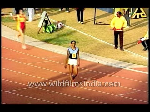 Asian Track and Field 1989 inauguration - PT Usha wins 4 X 400 mtrs relay race