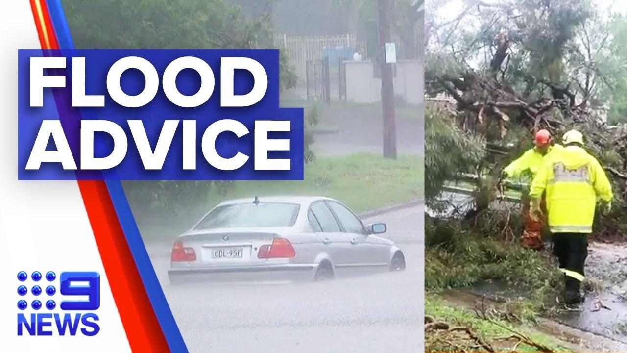 Flood rescues across Sydney spark police warning   Nine News Australia Смотри на OKTV.uz