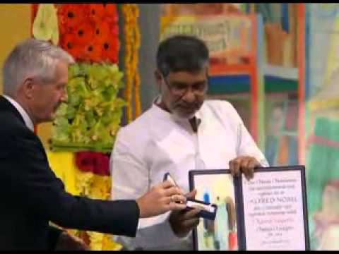 Kailash Satyarthi receives Nobel Peace Prize 2014